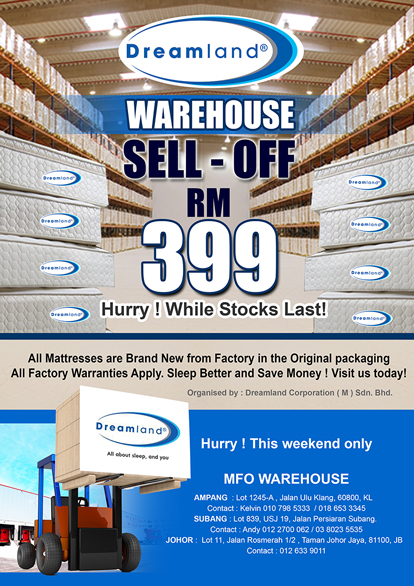 Dreamland Genuine Warehouse Sale Home Furniture Sale In Malaysia